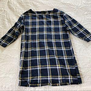 Old Navy Plaid Long Sleeve Dress - size Medium